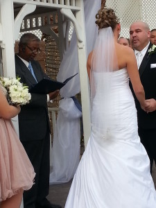 Wedding ceremony: Martin and Tracy Wolford